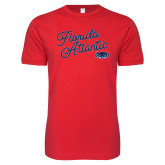 Next Level SoftStyle Red T Shirt-Fancy Script