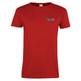 Ladies Red T Shirt-Winning in Paradise