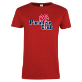 Ladies Red T Shirt-Paradise Club