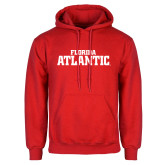 Red Fleece Hoodie-Wordmark
