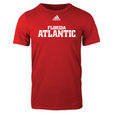 Adidas Red Logo T Shirt-Wordmark