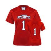 Ladies Red Replica Football Jersey-Wordmark