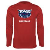 Performance Red Longsleeve Shirt-Baseball