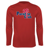 Performance Red Longsleeve Shirt-Paradise Club