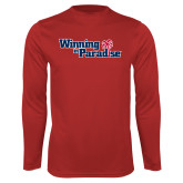Performance Red Longsleeve Shirt-Winning in Paradise