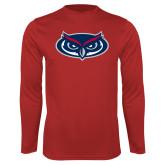 Performance Red Longsleeve Shirt-Mascot