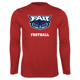 Performance Red Longsleeve Shirt-Football