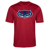 Performance Red Heather Contender Tee-Mascot