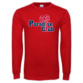 Red Long Sleeve T Shirt-Paradise Club
