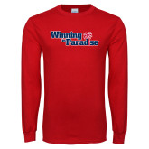 Red Long Sleeve T Shirt-Winning in Paradise