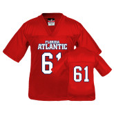 Youth Replica Red Football Jersey-Wordmark