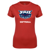Ladies Syntrel Performance Red Tee-Softball