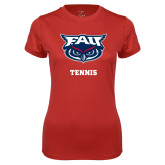 Ladies Syntrel Performance Red Tee-Tennis