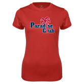 Ladies Syntrel Performance Red Tee-Paradise Club