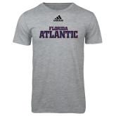 Adidas Sport Grey Logo T Shirt-Wordmark