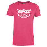 Ladies Fuchsia T Shirt-Primary Mark