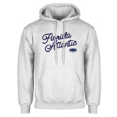 White Fleece Hoodie-Fancy Script