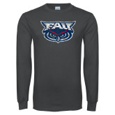 Charcoal Long Sleeve T Shirt-Primary Mark Distressed