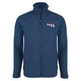 Navy Softshell Jacket-Paradise Club
