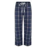 Navy/White Flannel Pajama Pant-Mascot