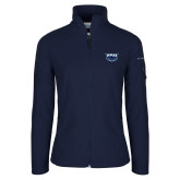 Columbia Ladies Full Zip Navy Fleece Jacket-Primary Mark