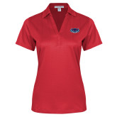 Ladies Red Performance Fine Jacquard Polo-Mascot