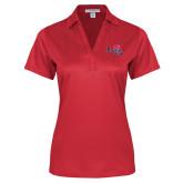 Ladies Red Performance Fine Jacquard Polo-Paradise Club