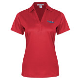 Ladies Red Performance Fine Jacquard Polo-Winning in Paradise