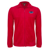 Fleece Full Zip Red Jacket-Mascot
