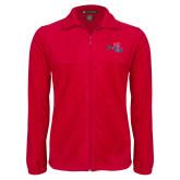 Fleece Full Zip Red Jacket-Paradise Club