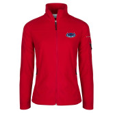 Columbia Ladies Full Zip Red Fleece Jacket-Mascot