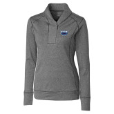 Ladies Cutter & Buck Shoreline Charcoal 1/2 Zip-Primary Mark