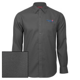 Red House Dark Charcoal Diamond Dobby Long Sleeve Shirt-Winning in Paradise