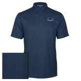 Navy Performance Fine Jacquard Polo-Mascot