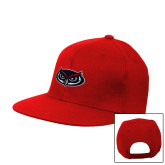 Red Flat Bill Snapback Hat-Mascot