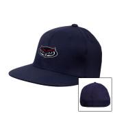 Navy OttoFlex Flat Bill Pro Style Hat-Mascot