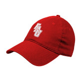 Red Twill Unstructured Low Profile Hat-FAU