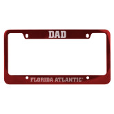 Dad Metal Red License Plate Frame-C - Glitter White-Soft Engraved