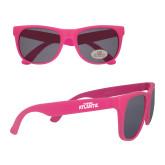 Hot Pink Sunglasses-Wordmark