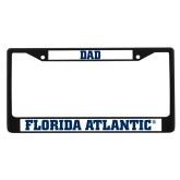 Dad Metal License Plate Frame in Black-C - Glitter White-Soft