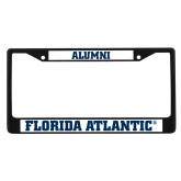 Alumni Metal License Plate Frame in Black-C - Glitter White-Soft
