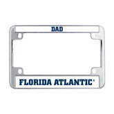 Metal Motorcycle License Plate Frame in Chrome-C - Glitter White-Soft