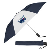 42 Inch Slim Stick Navy/White Vented Umbrella-Primary Mark