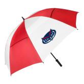 62 Inch Red/White Vented Umbrella-Mascot