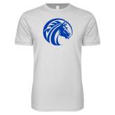 Next Level SoftStyle White T Shirt-Bronco