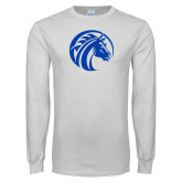 White Long Sleeve T Shirt-Bronco
