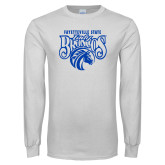 White Long Sleeve T Shirt-Lady Broncos