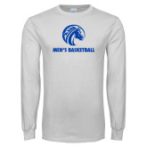 White Long Sleeve T Shirt-Mens Basketball