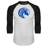 White/Black Raglan Baseball T-Shirt-Bronco