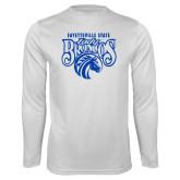 Performance White Longsleeve Shirt-Lady Broncos